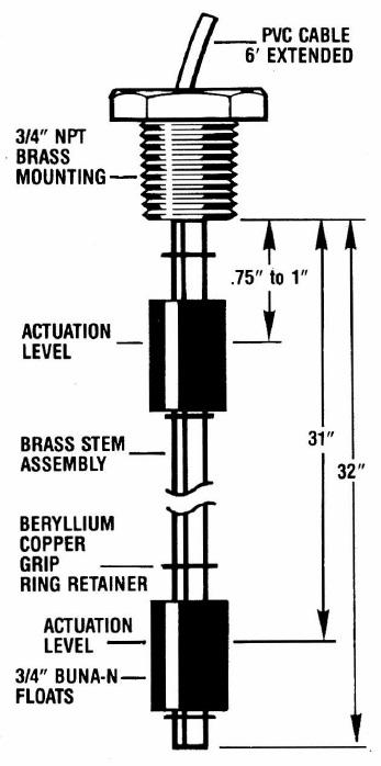 drum sensor brass buna n hi low level